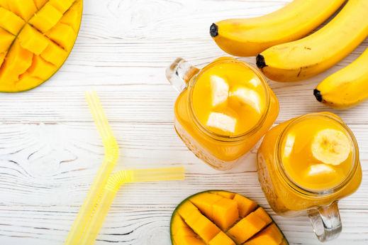 مزيج الموز والمانجا