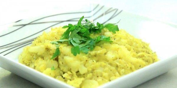 مهروس البطاطا و الأرز الأبيض المسلوق