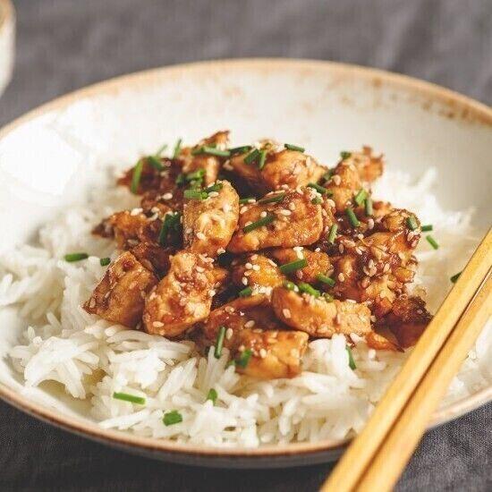 دجاج بالسمسم على طريقة المطاعم الآسيوية