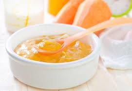 صفار البيض المسلوق بالبرتقال