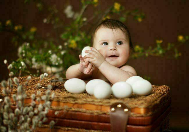 ما هو الوقت المناسب لإطعام الرضيع البيض؟